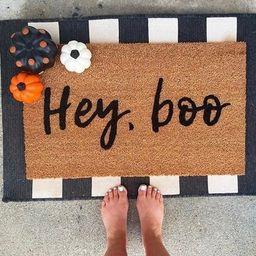 Hey boo doormat Halloween doormat fall doormat pumpkin | Etsy | Etsy (US)