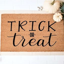 Trick or Treat Doormat Halloween Doormat Fall Welcome Mat | Etsy | Etsy (US)