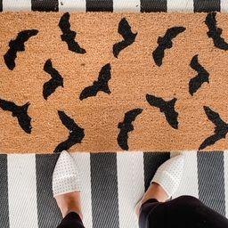 Bat Doormat / Welcome Mat/ Bat Halloween Decor/ Funny Door Mat   Etsy   Etsy (US)