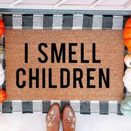 I Smell Children Doormat  Hocus Pocus Doormat  Funny Doormat   Etsy   Etsy (US)