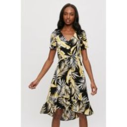 Ochre And Black Tropical Shirt Dress | Dorothy Perkins (UK)