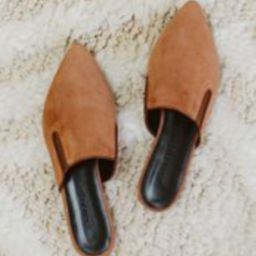 Suede Mule - Saddle | Jenni Kayne | Jenni Kayne