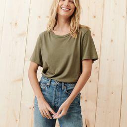 Cotton Basic Tee - Sage | Jenni Kayne | Jenni Kayne