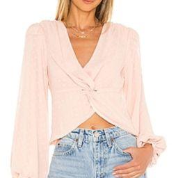 MAJORELLE Alejandra Top in Blush Pink from Revolve.com | Revolve Clothing (Global)