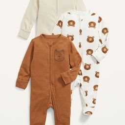 Unisex 3-Pack Sleep & Play Footed One-Piece for Baby | Old Navy (US)