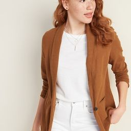Linen-Blend Blazer for Women | Old Navy (US)