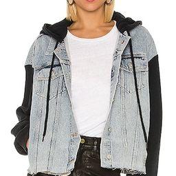 Milena Hooded Jacket in Indigo Blue | Revolve Clothing (Global)