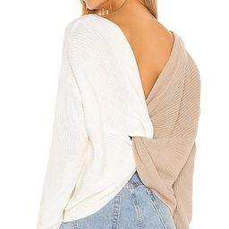 Trish Knot Sweater in Beige & White | Revolve Clothing (Global)