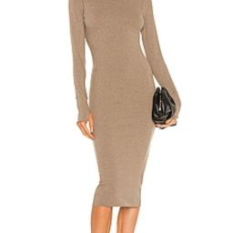 WSLY The Rivington Long Sleeve Dress in Walnut Heather from Revolve.com | Revolve Clothing (Global)