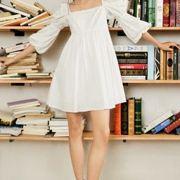 Alexis White Puff Sleeve Mini Dress   J.ING
