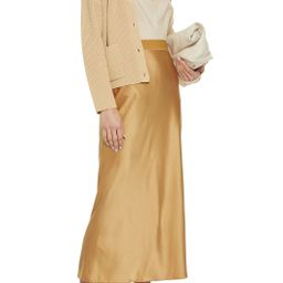 Satin midi skirt   The Outnet (US and CA)