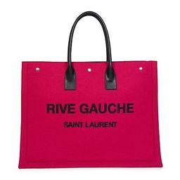 Large Rive Gauche Wool Tote Bag | Saks Fifth Avenue
