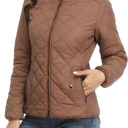 Anienaya Women's Lightweight Quilted Jacket Stand Collar Fully Lined Zip Warm Outwear w 2 Pockets... | Amazon (US)