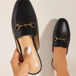 Metal Decor Loafer Mules | SHEIN