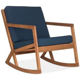 Safavieh Nicksen Outdoor Rocking Chair & Reviews - Furniture - Macy's | Macys (US)
