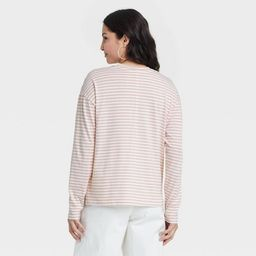 Women's Striped Long Sleeve French T-Shirt - A New Day™ | Target