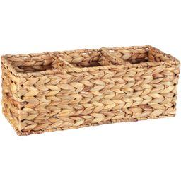 Better Homes & Gardens Woven Water Hyacinth Tank Basket, Natural - Walmart.com | Walmart (US)