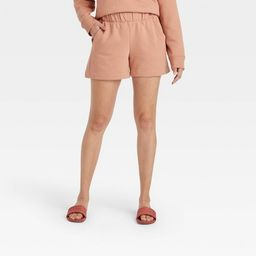 Women's High-Rise All Day Fleece Pull-On Shorts - A New Day™ | Target