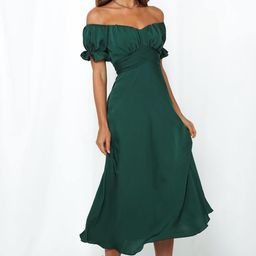 Sky Child Maxi Dress Forest Green   Hello Molly