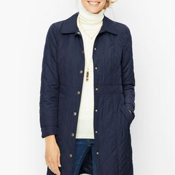 Long Quilted Coat | Talbots