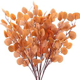 HUAESIN 4 Pcs Artificial Eucalyptus Branches Long Stem Silk Silver Dollar Eucalyptus Leaves for A...   Amazon (US)