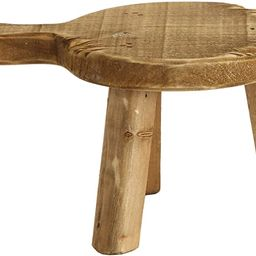 Creative Co-Op Round Wood Pedestal with Handle, Small, Brown | Amazon (US)