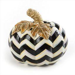 MacKenzie-Childs Chevron Stripe Small Decorative Pumpkin for Fall Decor, Autumn Decorations for H... | Amazon (US)