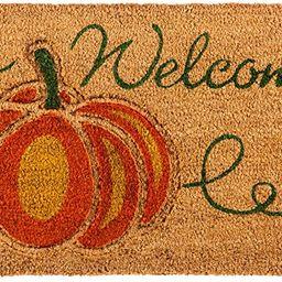 Evergreen Flag 2RM386 Welcome Pumpkin Coir Mat, Multi-Colored | Amazon (US)