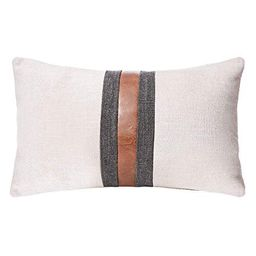 CARLOTA Farmhouse Decorative Outdoor Throw Pillow Covers for Couch Sofa Bed Brown Faux Leather Ac... | Walmart (US)