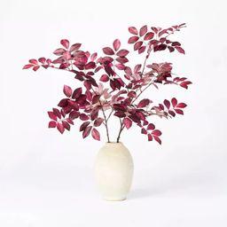 "8"" x 3.5"" Artificial Branch Plant Arrangement in Ceramic Pot Purple - Threshold™ designed with ... | Target"