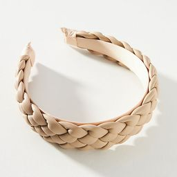 Faux Leather Braided Headband   Anthropologie (US)