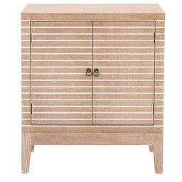 "DecMode Wood Contemporary Cabinet, Light Brown, 36""H | Walmart (US)"