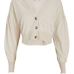 Marcy Puff Sleeve Cotton-Silk Cardigan | INTERMIX