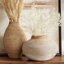 Woven Rattan Vases | Pottery Barn (US)