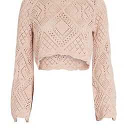 Gallia Crochet Cotton Crop Top | INTERMIX