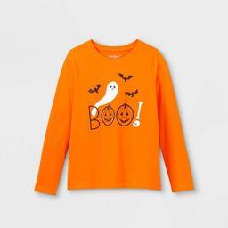 Girls' Halloween Long Sleeve Graphic T-Shirt - Cat & Jack™   Target