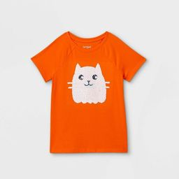 Girls' Flip Sequin Halloween Ribbed Short Sleeve T-Shirt - Cat & Jack™   Target