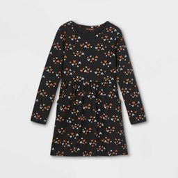 Girls' Printed Knit Long Sleeve Dress - Cat & Jack™   Target