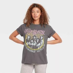 Women's Aerosmith Short Sleeve Graphic T-Shirt - Gray   Target