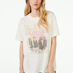 Scoop Women's The Beatles Circle Graphic Short Sleeve T-Shirt | Walmart (US)