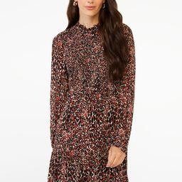 Scoop Women's Smocked Midi Dress with Long Sleeves | Walmart (US)