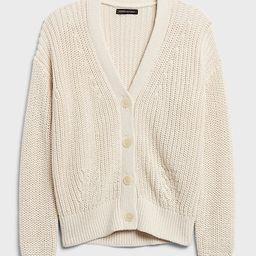 Organic Cotton Cardigan Sweater   Banana Republic (US)