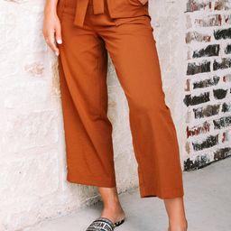 Ginger Paperbag Pants   Amaryllis Apparel