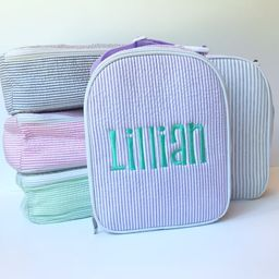 Personalized Monogrammed Seersucker Insulated Lunch Bag Lunch   Etsy   Etsy (US)