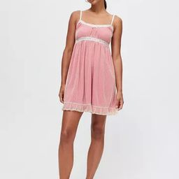 UO Mesh Babydoll Mini Dress | Urban Outfitters (US and RoW)