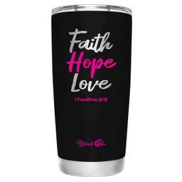 Blessed Girl Womens Stainless Steel Tumbler - Faith Hope Love 20 oz - - - Walmart.com | Walmart (US)