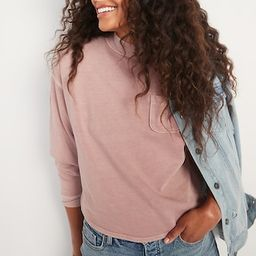 Slouchy Mock-Neck Garment-Dyed Sweatshirt for Women | Old Navy (US)