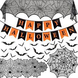 Halloween Decorations Indoor Set, Halloween Decor Bundle for Home, Party, Kitchen, Spider Web Tab...   Amazon (US)