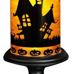 Eldnacele Halloween Snow Globe Candles Lighted Lamp, Battery Operated Spooky Spinning Water Glitt...   Amazon (US)