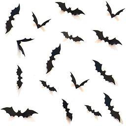 HOZZQ DIY Halloween Party Supplies PVC 3D Decorative Scary Bats Wall Decal Wall Sticker, Hallowee...   Amazon (US)
